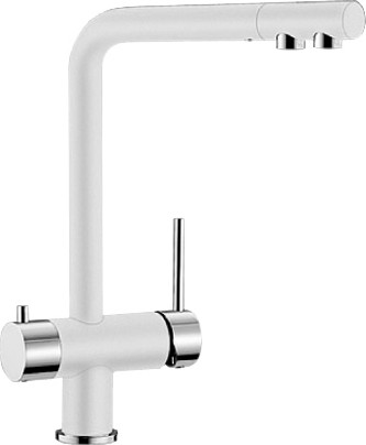 Смеситель кухонный однорычажный с высоким изливом для обычной и питьевой воды, жемчужный Blanco FONTAS 520743