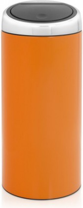Ведро для мусора 30л оранжевое Brabantia TOUCH BIN 481062