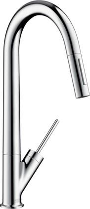 Смеситель для кухни однорычажный с выдвижным изливом, хром Hansgrohe AXOR Starck 10821000