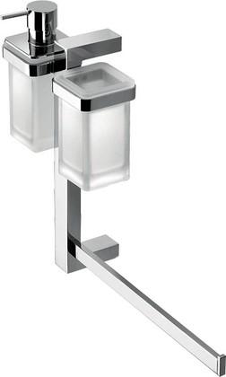 Штанга подвесная с аксессуарами для ванной, хром Colombo UNITS B9121.D.CR-VAN
