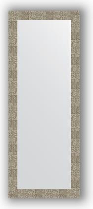 Зеркало в багетной раме 56x146см соты титан 70мм Evoform BY 3116