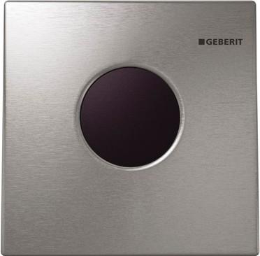 ИК привод смыва для писсуара, пластиковая кнопка матовый хром Geberit Sigma01 116.021.46.5