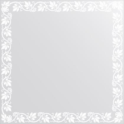 Зеркало для ванной с орнаментом 70x70см FBS CZ 0762