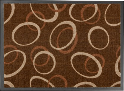 Коврик придверный 50x75см для помещения коричневые круги, полиамид Golze HOMELIKE 1676-40-23