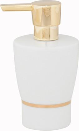 Ёмкость для жидкого мыла белая с золотым ободком Spirella OPERA 1009600