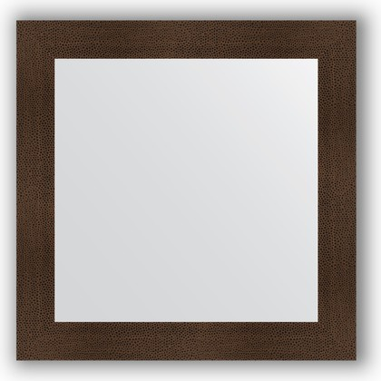 Зеркало в багетной раме 80x80см бронзовая лава 90мм Evoform BY 3248