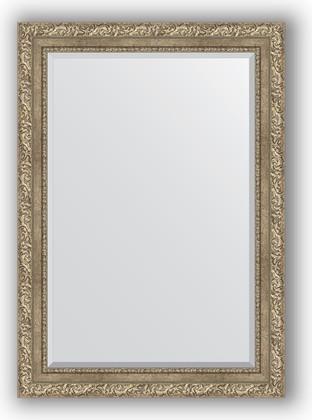 Зеркало с фацетом в багетной раме 75x105см виньетка античное серебро 85мм Evoform BY 3461