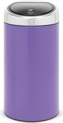 Ведро для мусора 45л фиолетовое Brabantia TOUCH BIN 481864