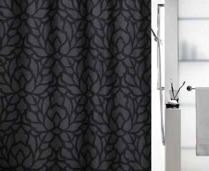 Штора для ванны 180x200см текстильная серая Spirella VEDETTA 1017196