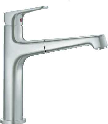 Смеситель кухонный однорычажный с высоким выдвижным изливом, нержавеющая сталь Blanco FELISA-S 520337