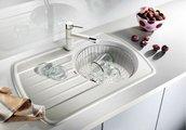 Кухонная мойка крыло слева, гранит, жемчужный Blanco RONDOVAL 45 S 520606