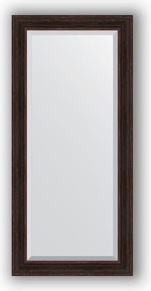 Зеркало с фацетом в багетной раме 79x169см темный прованс 99мм Evoform BY 3603