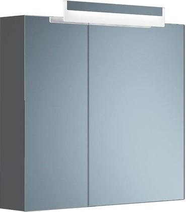 Шкаф зеркальный подвесной со светильником, 2 двери, 80x15x70см Verona Moderna MD602