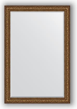 Зеркало с фацетом в багетной раме 120x180см виньетка состаренная бронза 109мм Evoform BY 3635
