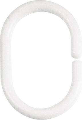 Кольца для шторы белые, 12шт Spirella C-Minor 1040075