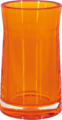 Стакан оранжевый Spirella SYDNEY Clear-Acrylic 1017771