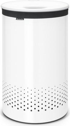 Бак для белья 60л белый с пластиковой крышкой Brabantia 105142
