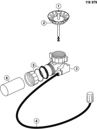 Набор доукомплектации клапаном-автоматом для PANOR 60 с круглой ручкой Blanco 118979