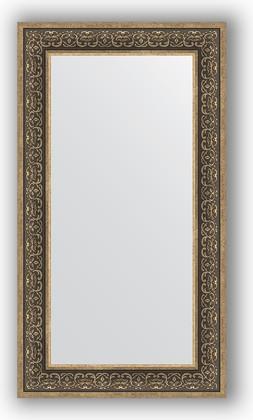 Зеркало в багетной раме 63x113см вензель серебряный 101мм Evoform BY 3096