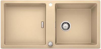 Кухонная мойка оборачиваемая без крыла, с клапаном-автоматом, гранит, шампань Blanco ADON XL 6 S 519623