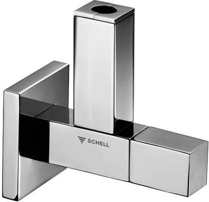 """Вентиль угловой, дизайнерский квадратный 1/2""""-Ø10 Schell Quad 053620699"""