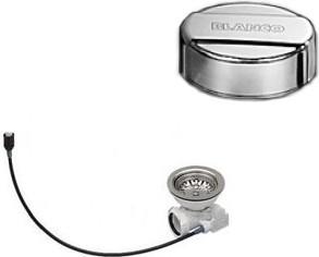 Набор доукомплектации клапаном-автоматом с круглой ручкой управления, хром Blanco 519377