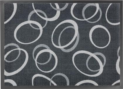 Коврик придверный 50x75см для помещения серые круги, полиамид Golze HOMELIKE 1676-40-22