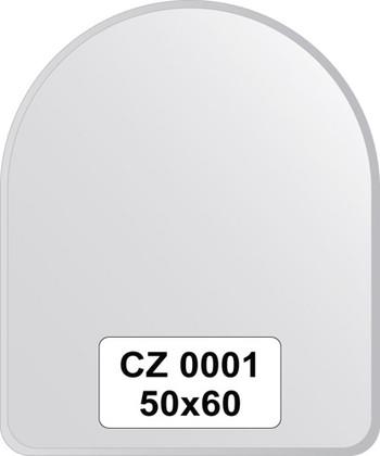 Зеркало для ванной 50x60см с фацетом 10мм FBS CZ 0001