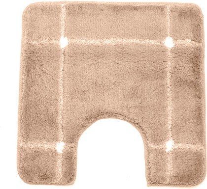 Коврик для туалета 55x55см коричневый Spirella KARO 1013108