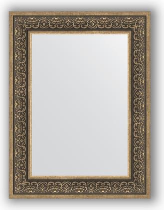 Зеркало в багетной раме 63x83см вензель серебряный 101мм Evoform BY 3064