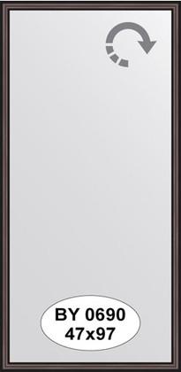 Зеркало 47x97см в багетной раме махагон Evoform BY 0690