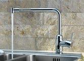 Смеситель для кухни однорычажный с выдвижным поворотным телескопическим изливом, хром Kludi L-INE 428210577
