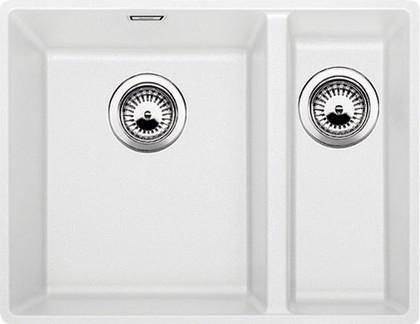 Кухонная мойка без крыла, с клапаном-автоматом, гранит, белый Blanco SUBLINE 340/160-F 519805