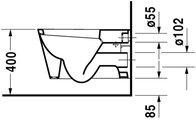 Duravit STARCK I Унитаз подвесной, покрытие WG, артикул 2100900001