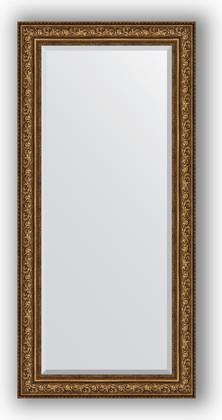 Зеркало с фацетом в багетной раме 80x170см виньетка состаренная бронза 109мм Evoform BY 3609