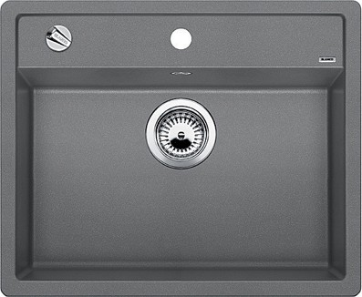 Кухонная мойка без крыла, с клапаном-автоматом, гранит, алюметаллик Blanco DALAGO 6-F 514770