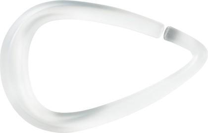 Кольца для шторы в ванную прозрачные Spirella DROP 1014717