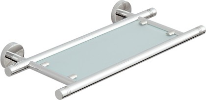 Полка стеклянная L400 хром Сунержа Каньон 00-3003-0400