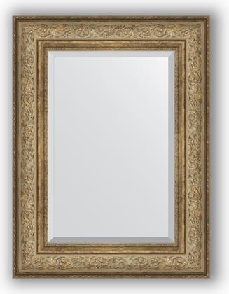 Зеркало с фацетом в багетной раме 60x80см виньетка античная бронза 109мм Evoform BY 3399