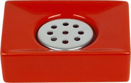 Мыльница красная Spirella QUADRO 1013647