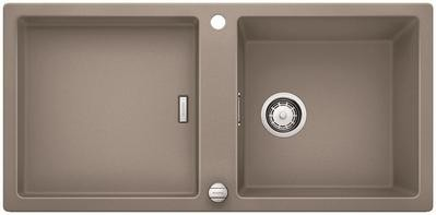 Кухонная мойка оборачиваемая без крыла, с клапаном-автоматом, гранит, серый беж Blanco ADON XL 6 S 519625
