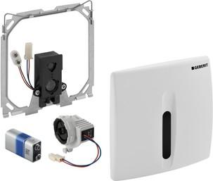 ИК привод смыва для писсуара, батарея 9В, крышка из пластика белая Geberit HyBasic 115.818.11.1