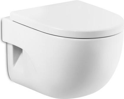 Чаша керамическая подвесная с горизонтальным выпуском, белая Roca MERIDIAN 346248000