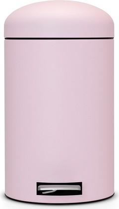 Ведро для мусора 12л с педалью, MotionControl, розовое Brabantia RETRO 482502