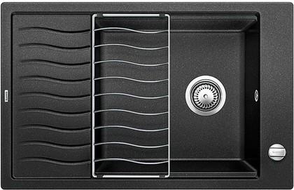 Кухонная мойка оборачиваемая с крылом, с клапаном-автоматом, гранит, антрацит Blanco ELON XL 6 S 518735
