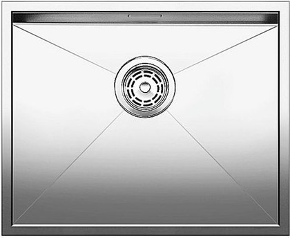 Кухонная мойка без крыла, нержавеющая сталь зеркальной полировки Blanco ZEROX 500-U 517245