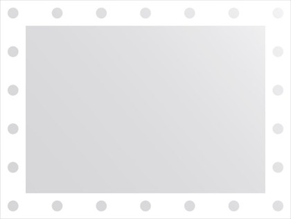 Зеркало для ванной с орнаментом 80x60см FBS CZ 0711