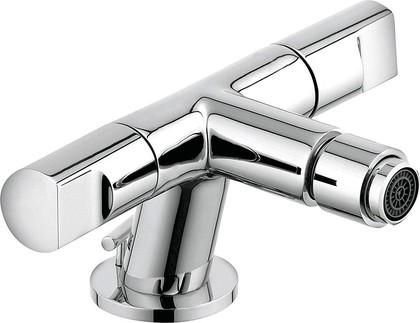 Смеситель для биде вентильный стандартный с донным клапаном, хром Kludi NEW WAVES 573130530
