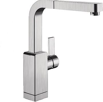 Смеситель кухонный однорычажный с выдвижным изливом, нержавеющая сталь матовой полировки Blanco LEVOS-S 514919
