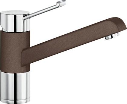 Смеситель однорычажный для кухонной мойки, хром / кофе Blanco ZENOS 517813